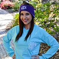 Monogrammed Fleece Headband Ear Warmer